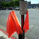 Street Crossing Flags
